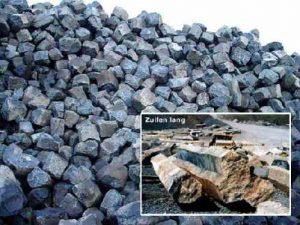 Schanskorven met Basalt steen